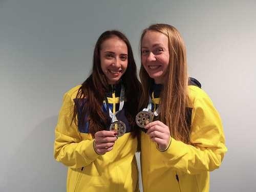Украинки Кийко и Малькова завоевали серебро на КМ по прыжкам на батуте