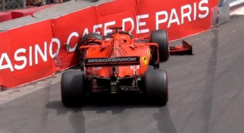 Феттель попал в аварию в третьей практике Гран-при Монако