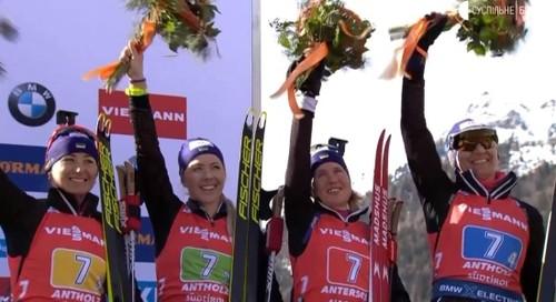 Сборная Украины третий раз подряд выиграла медаль в женской эстафете
