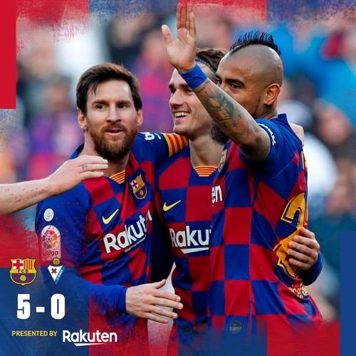 Барселона - Эйбар - 5:0. Видео голов и обзор матча