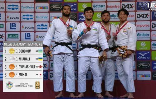 Украинский дзюдоист Кеджау Ньябали завоевал серебро в серии Grand Slam
