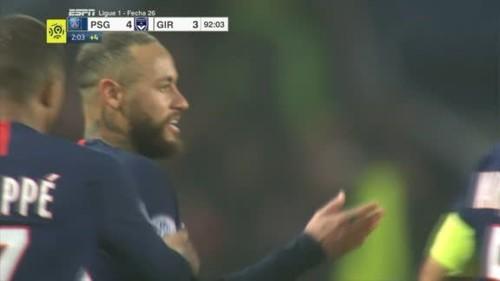 ПСЖ забил 4 гола и выиграл у Бордо, Неймар был удален за два предупреждения