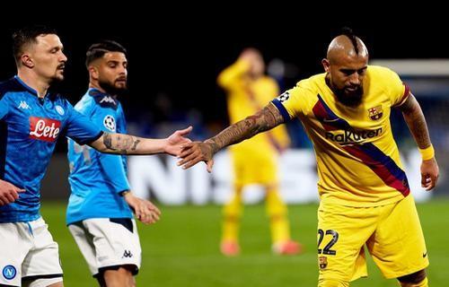 Наполи и Барселона сыграли вничью в первом матче 1/8 финала Лиги чемпионов