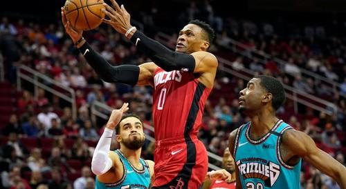 НБА. 63 очка от Хардена и Уэстбрука помогли Хьюстону разгромить Мемфис