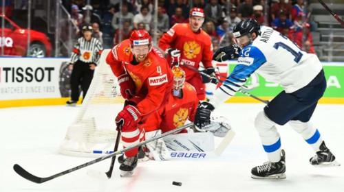 ЧМ по хоккею. Решающий гол Финляндии в ворота России в полуфинале