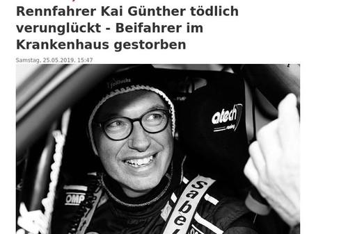 Немецкий гонщик погиб на трассе на чемпионате по ралли