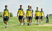 Швед и Коноплянка поиграли в гольф в расположении сборной Украины