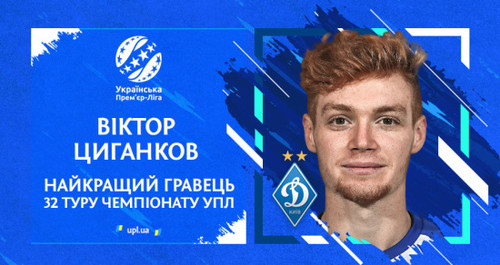 Цыганков - лучший игрок, Бабич - лучший тренер последнего тура УПЛ