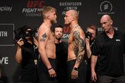 UFC Fight Night 153. Смит удушающим приемом победил Густафссона