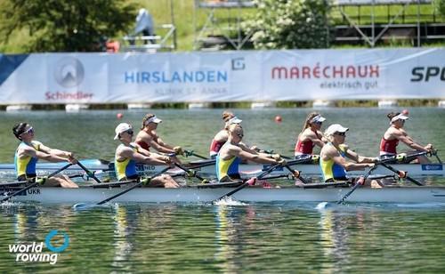 Женская четверка выиграла для Украины бронзу ЧЕ по гребле