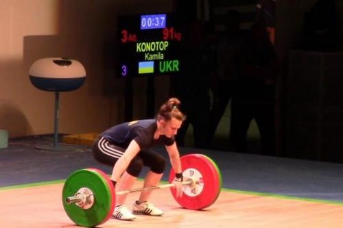 Конотоп принесла Украине бронзу юниорского ЧМ по тяжелой атлетике