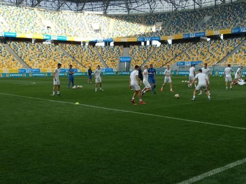 Тренировка сборной Украины накануне матча с Сербией. Как это было