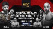 Где смотреть онлайн UFC 238: Сехудо – Мораес, Шевченко – Ай