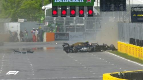 ВИДЕО. Авария в F1. Как Магнуссен влетел в стену чемпионов