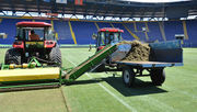 Шахтер обновил газон на стадионе Металлист