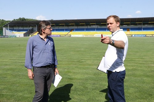 Делегация УЕФА посетила с инспекцией стадион Александрии
