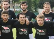 ФОТО. Грузинские футболисты вышли в антиоккупационных футболках