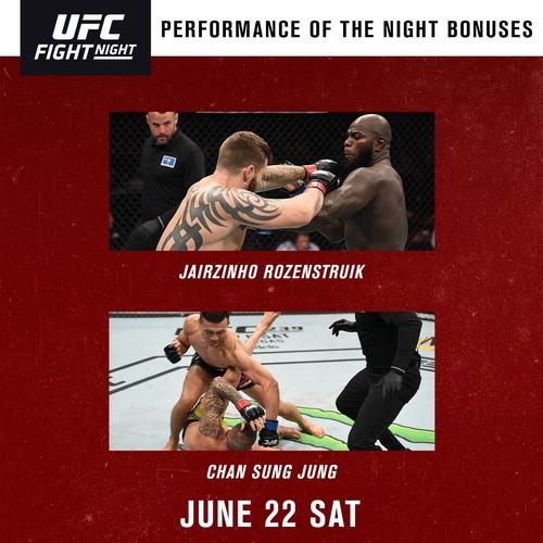 UFC. Корейский Зомби и Розенстрайк получили бонусы