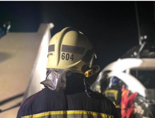 З'явилося відео, як в Іспанії згоріла яхта Кличко