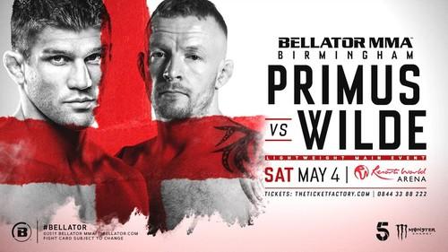 Где смотреть онлайн Bellator Birmingham: Брент Примус – Тим Уайлд