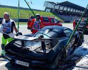 Бергер на Гран-при Австрии сожгли суперкар ценой 1 миллион долларов