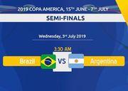 1/2 финала Кубка Америки. Бразилия – Аргентина. Стартовые составы
