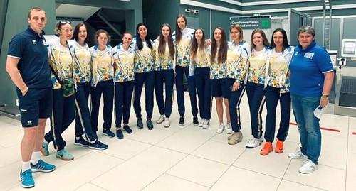 Женская сборная Украины прилетела в Неаполь на Универсиаду