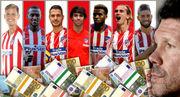 Атлетико при Симеоне потратил 800 миллионов евро на новичков
