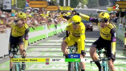 Тур де Франс. Jumbo Visma выиграла командную гонку