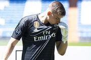 ВИДЕО. Как Лунин тренируется в Реале