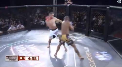 ВИДЕО. Бразильский боец мощно нокаутировал соперника за 10 секунд