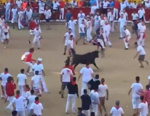 Звезда NFL эффектно перепрыгнул через разъяренного быка