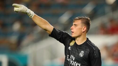 ВИДЕО. Как Лунин на тренировке Реала заблокировал удар Марсело
