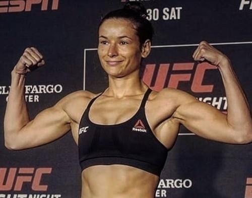 ФОТО. Украинка Марина Мороз тренируется со звездой UFC Масвидалем