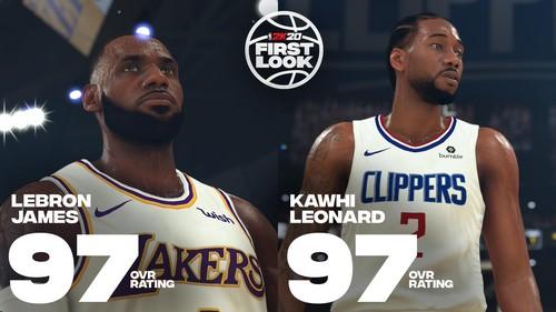 Джеймс и Ленард получили наивысший рейтинг в NBA 2K20