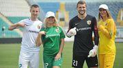 Игроки Ворсклы с женами представили форму команды на новый сезон