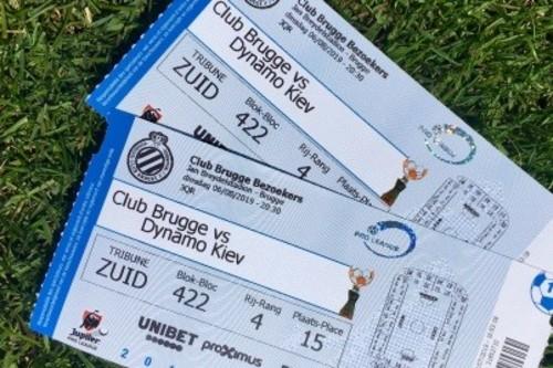 Билеты на матч Брюгге – Динамо стоят 10 евро