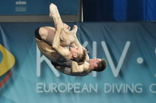 Германия побеждает в первый день чемпионата Европы по прыжкам в воду