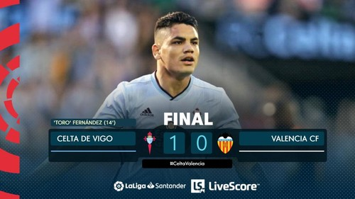 Сельта дома нанесла минимальное поражение Валенсии в Ла Лиге