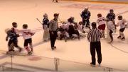 ВИДЕО. Матч детских хоккейных команд завершился массовой дракой