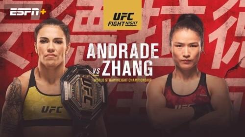 Где смотреть онлайн бой UFC Fight Night 157. Андраде – Жанг