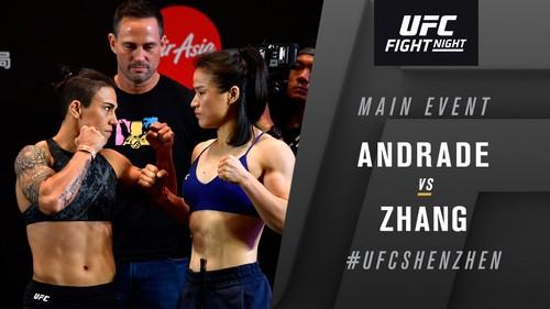 UFC. Джессика Андраде – Вэйли Чжан. Видео нокаута