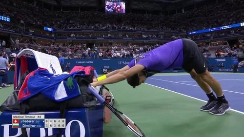 Димитров выбил Федерера из US Open в сложном пятисетовом поединке