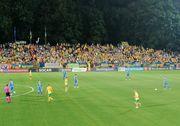 ВИДЕО. Болельщики Украины и Литвы спели Червону руту во время матча