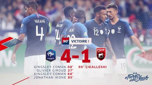 Франция – Албания – 4:1. Видео голов и обзор матча