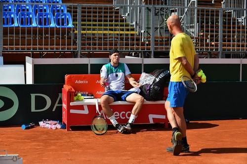ФОТО. Как украинские теннисисты готовятся к матчу против Венгрии