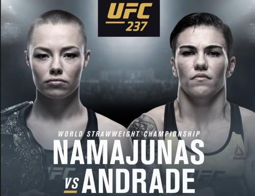 Где смотреть онлайн UFC 237: Роуз Намаюнас – Джессика Андраде