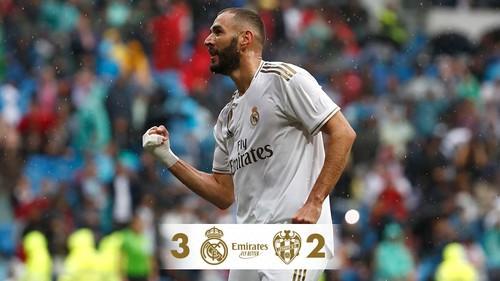 Реал Мадрид обыграл Леванте, пропустив два мяча во втором тайме