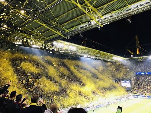ВИДЕО. Желтая стена. Крутой перформанс от болельщиков Боруссии Д