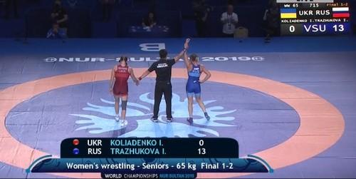 Коляденко завоевала серебро чемпионата мира по вольной борьбе